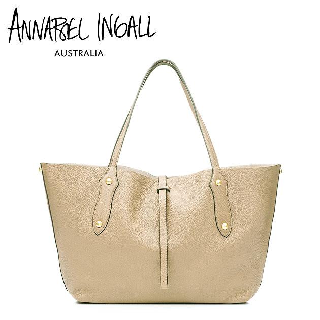 【今だけ10%OFF!!】≪Annabel Ingall≫ アナベル・インガル本革レザー ベージュ ライトキャメル トートバッグ Lether Bag (Wheat)【レディース】