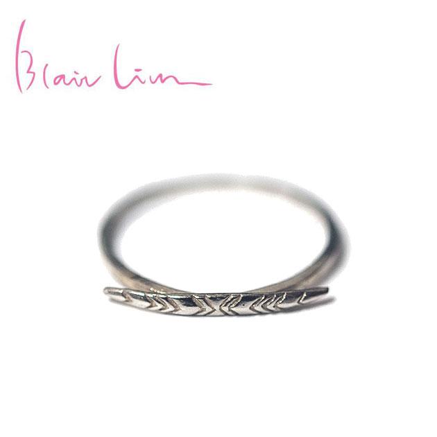 【再入荷】≪Blair Lim≫ ブレア・リムリーフモチーフ シルバーリング ブランドボックス付き Leaf Ring (Silver)【レディース】