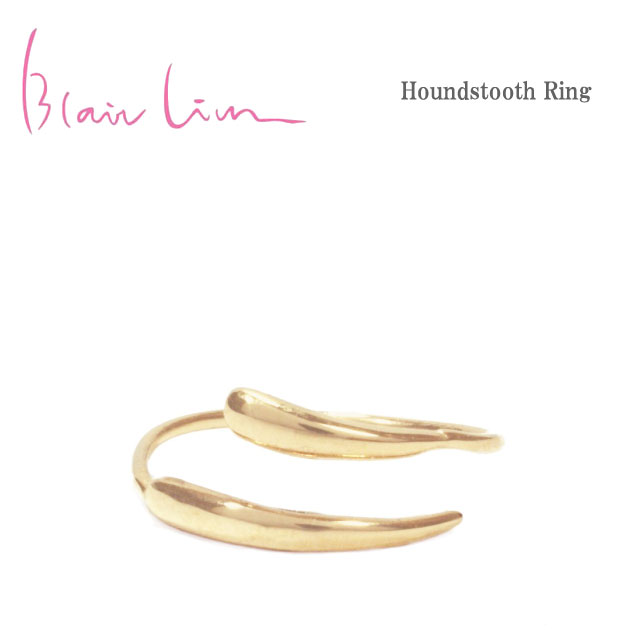 【再入荷】【全品10%OFFクーポン配布中】≪Blair Lim≫ ブレア・リムウェーブ カーブ K10 ゴールド オープンリング ブランドボックス付き Simple Open Rift Ring (Gold)【レディース】