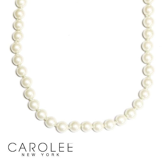 【全品10%OFFクーポン配布中】≪CAROLEE≫ キャロリーミディアム パール 真珠 ゴールド ネックレス White Pearl Necklace (Gold)【レディース】