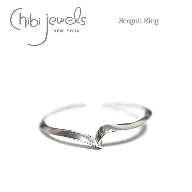 【再入荷】≪chibi jewels≫ チビジュエルズカモメモチーフ シルバーC型リング 指輪 Seagull Ring (Silver)【レディース】