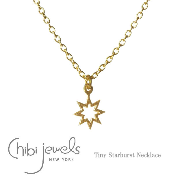 ≪chibi jewels >> little jewels star star motif necklace Tiny Starburst  Necklace (Gold)