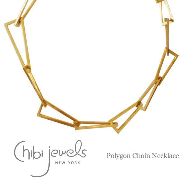 ≪chibi jewels≫ チビジュエルズ多角形 ゴールド ネックレス Polygon Necklace (Gold)【レディース】