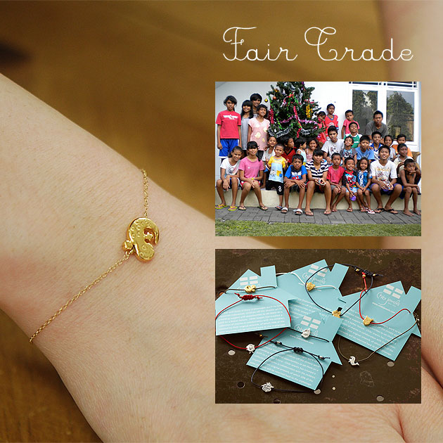 «Chibi jewels» チビジュエルズ animals with animal charm chain bracelet Charity Bracelet (Gold)