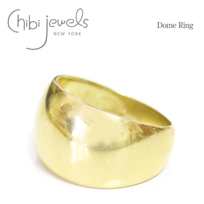 【CLASSY 雑誌掲載】【GINZA 雑誌掲載】≪chibi jewels≫ チビジュエルズボリューム ゴールド リング 指輪 ピンキーリング Dome Ring (Gold)【レディース】