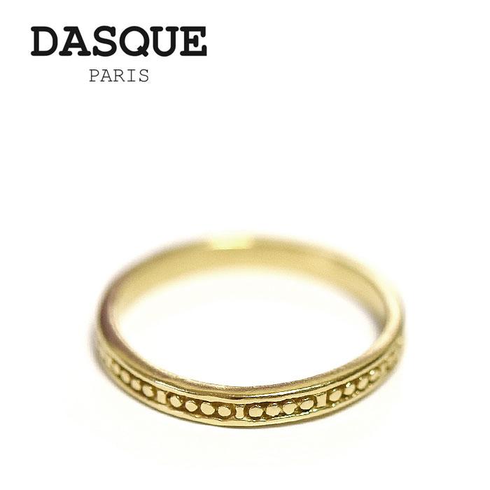 【待望の最新作】≪DASQUE PARIS≫ ダスク・パリシンプル ゴールド リング (Gold)【レディース】