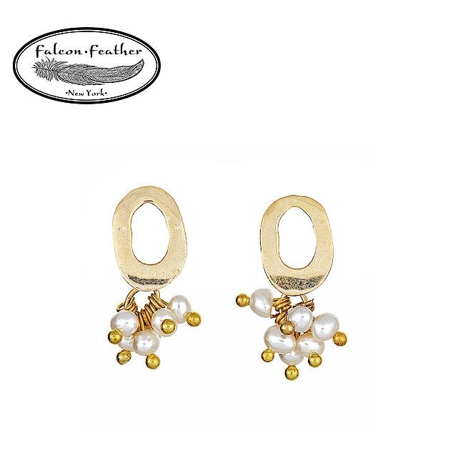 【ピアス全品10%OFF】≪Falcon Feather≫ ファルコン・フェザー真珠パール マットゴールド オーバルピアス Wendy Earrings (Gold)【レディース】