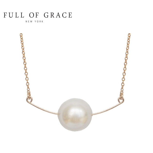 【VERY 雑誌掲載】≪FULL OF GRACE≫ フルオブグレイスパール バー ネックレス Pearl Bar Necklace (Gold)【レディース】【ギフト ラッピング】