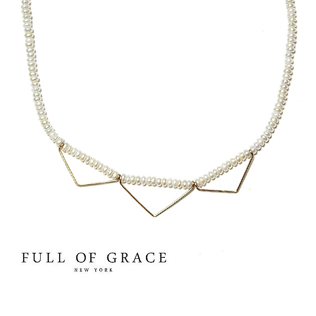 【ネックレス全品10%OFF】≪FULL OF GRACE≫ フルオブグレイスモダンコレクション 真珠パール ゴールドワイヤーネックレス Raffin Pearl Necklace (Gold)【レディース】【ギフト ラッピング】