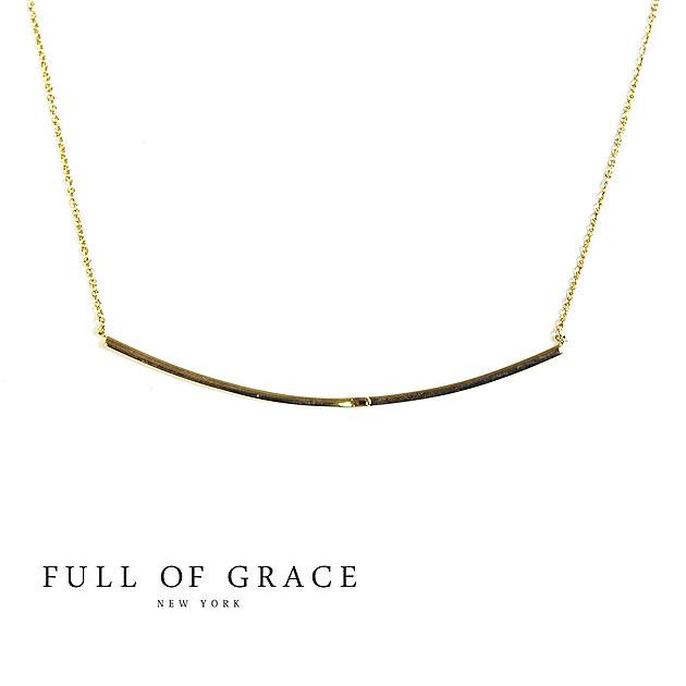 【再入荷】≪FULL OF GRACE≫ フルオブグレイスモダンコレクション ゴールドバー ネックレス Pomade Bar Necklace(Gold)【レディース】