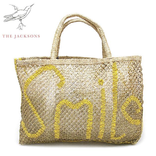 ≪The Jacksons≫더・쟈크손즈보헤미안 Smile 스마이르로고그라데이션이나 가방 Message Jute Bag