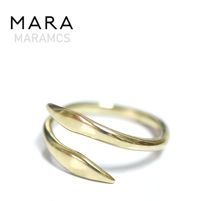【予約販売 8月入荷】≪MARAMCS≫ マラムクスシンプル ラウンド 10金 ゴールド リング Raw Snake Ring (Gold)【レディース】