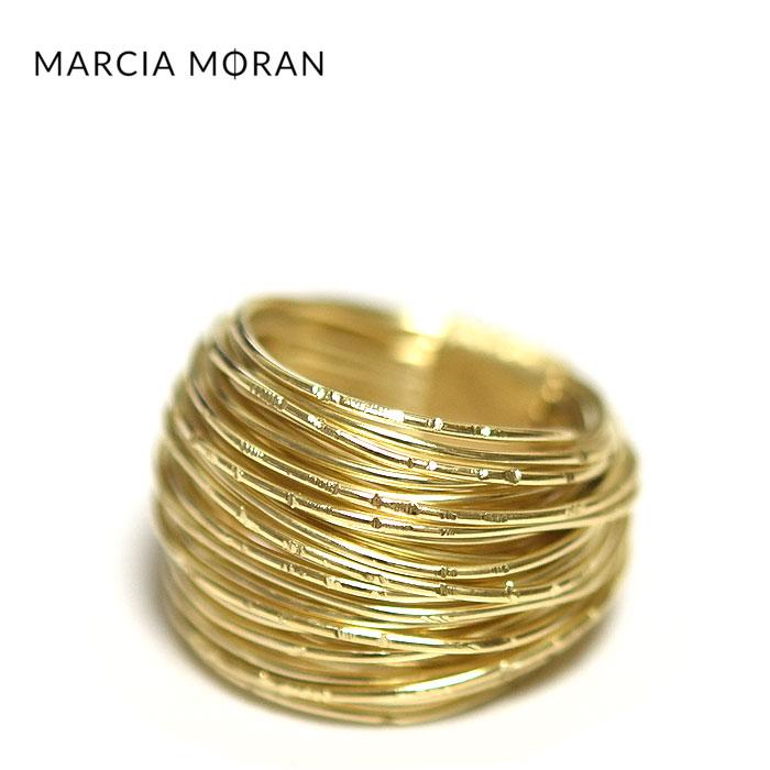 【待望の最新作】≪Marcia Moran≫ マルシア・モラン ワイヤー ボリューム ゴールド リング CLUSTER WIRE WRAPPED RING (Gold)【レディース】