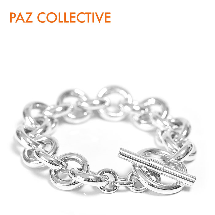 【CLASSY 雑誌掲載】【STORY 雑誌掲載】【全品10%OFFクーポン配布中】≪PAZ COLLECTIVE≫ パズ コレクティブチェーン サークル ブレスレット シルバー Cirque Bracelet (Silver)【レディース】