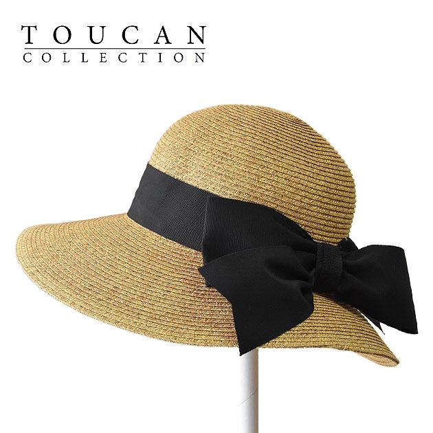 【再入荷】≪Toucan Hats≫ トウカンハットバックリボン つば広 ナチュラル ストローハット 麦わら帽子 (Natural) 【ネコポス不可】【ラッピング不可】【レディース】