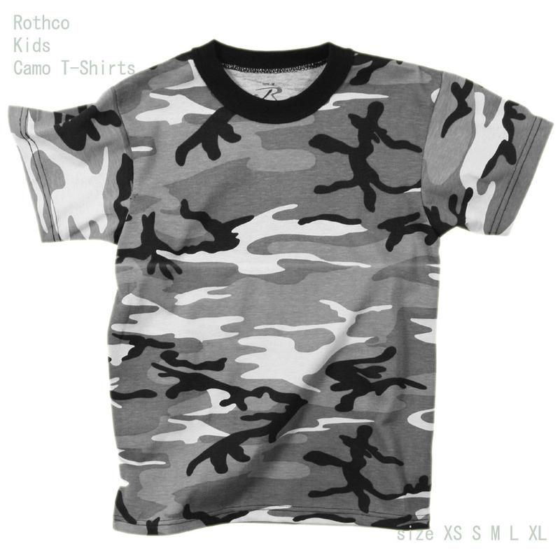 2f0ae43b ... Child military T-shirt camouflage シティキッズロスコカモフラージュ T-shirt U.S. forces  replica ...