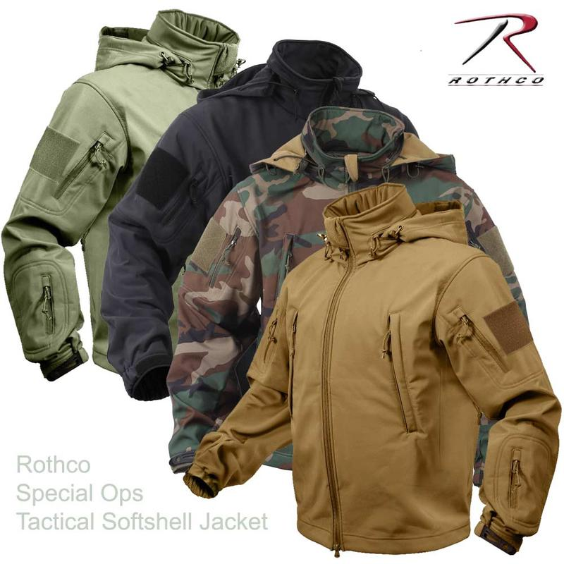 77ad2a16c Roscoe ROTHCO Special Ops Tactical Softshell Jacket for  クティカルソフトシェルジャケットスリーシーズン, all weather