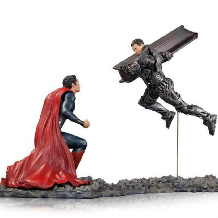プレミアム フィギュア スーパーマン対ゾッド将軍セット(マン・オブ・スティール)DC コレクティブル Superman vs Zod Statue, Scale 1/12