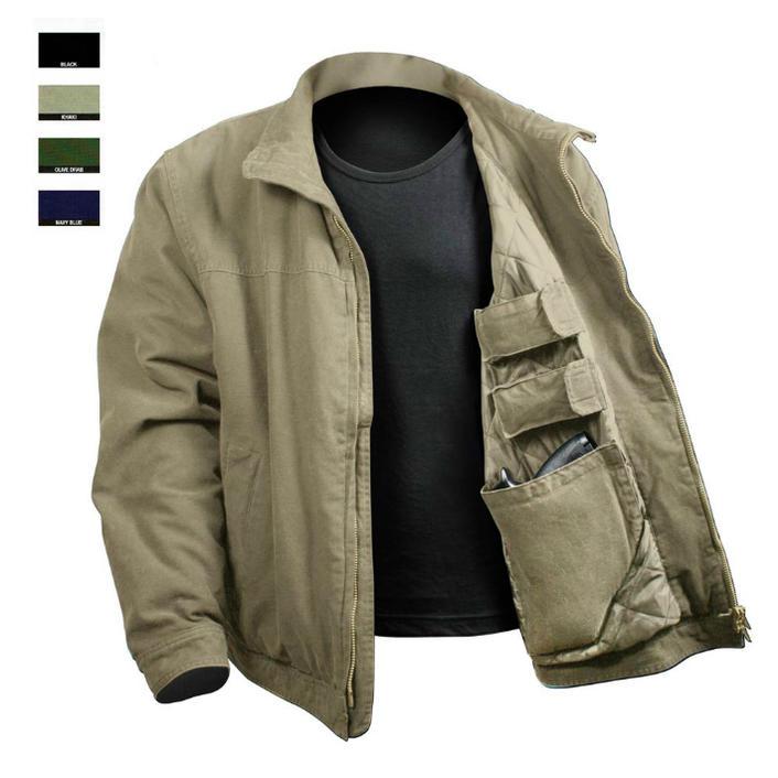 シークレットポケット装備 キャリージャケット ロスコROTHCO 3 Season Concealed Carry Jacket