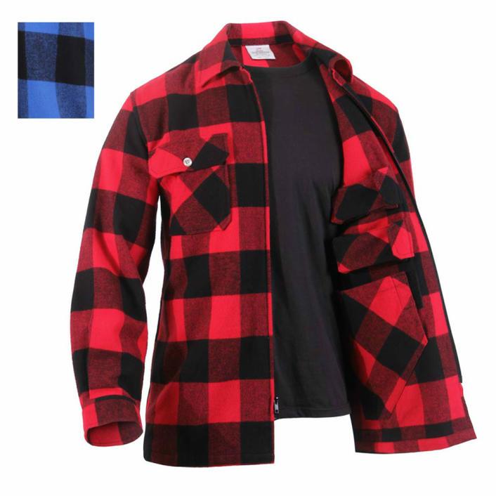 シークレットポケット装備 フランネル チェックCPOジャケットロスコConcealed Carry Flannel Shirt