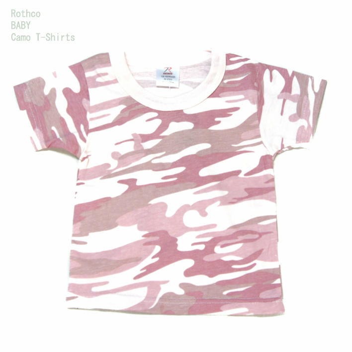 d331ebb56b54 Kids baby pink camouflage T シャツアメリカンスタイルロスコ BABY T-SHIRTS ...